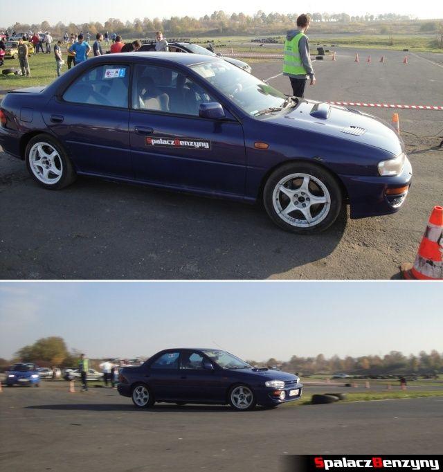 Subaru Impreza granatowa na Rally Sprint Cemex 2012 w Lublinie