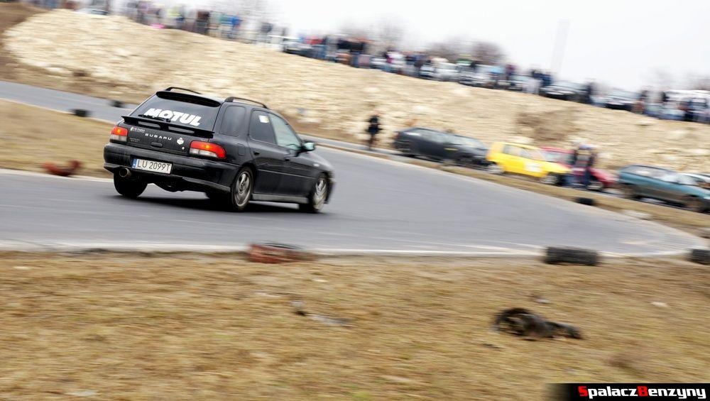 Subaru Impreza GT czarna na RS Kulig 2014 Tor Lublin