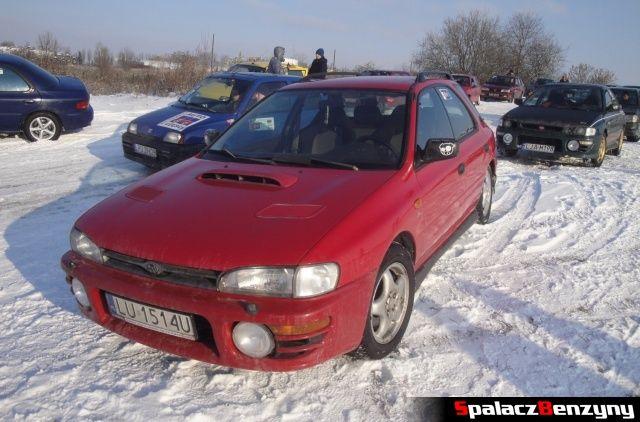 Subaru Impreza GT czerwona combi na RS WOŚP na Torze w Lublinie 2013