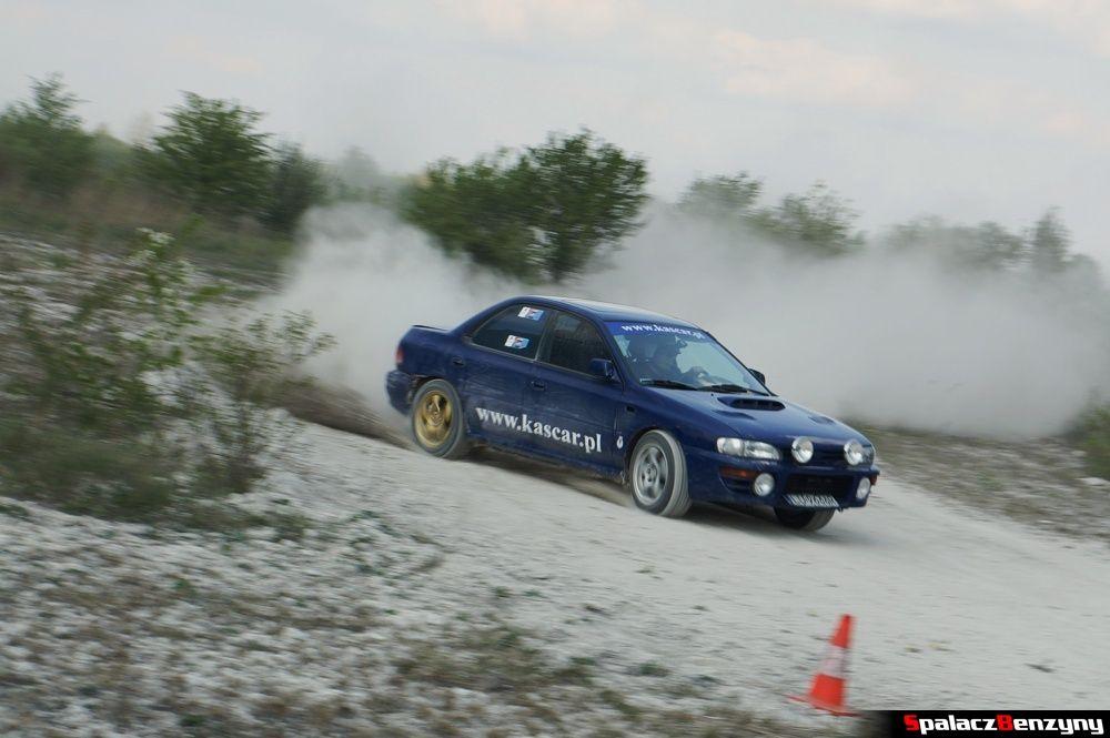 Subaru Impreza GT granatowa na szutrowy RS Chełm 1 maja 2014