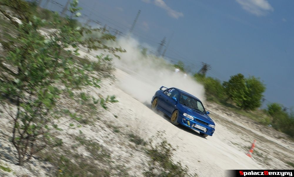 Subaru Impreza GT niebieska 2 na szutrowy RS Chełm 1 maja 2014