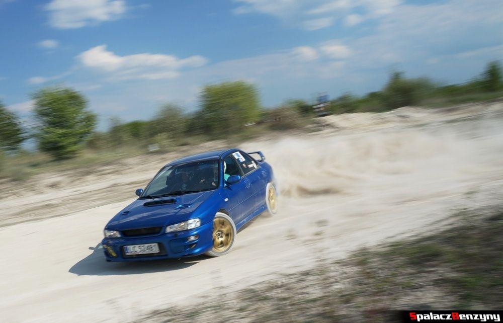 Subaru Impreza GT niebieska 6 na szutrowy RS Chełm 1 maja 2014