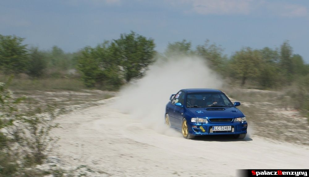Subaru Impreza GT niebieska 7 na szutrowy RS Chełm 1 maja 2014