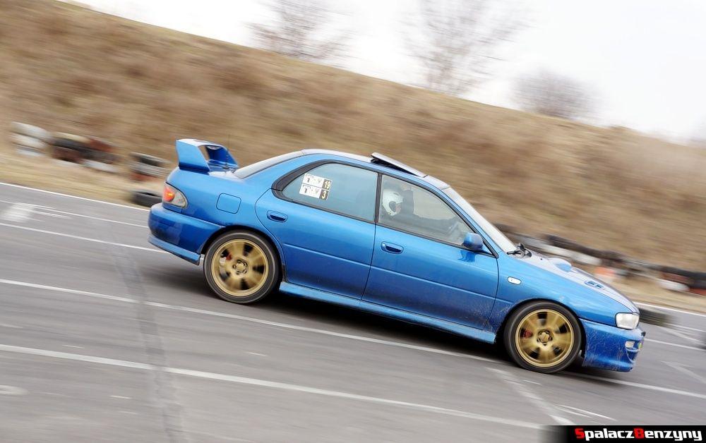Subaru Impreza GT niebieska na RS Kulig 2014 Tor Lublin