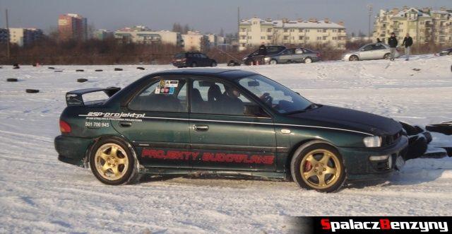 Subaru Impreza GT zielona na RS WOŚP na Torze w Lublinie 2013