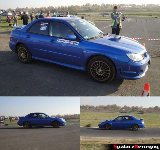 Subaru Impreza niebieska na Rally Sprint Cemex 2012 w Lublinie