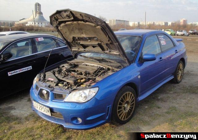 Subaru Impreza WRX niebieska na RS Browar Jagiełło 2012 w Lublinie