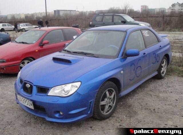 Subaru Impreza WRX niebieska na RS Piotra Bodzaka na Torze w Lublinie 2013