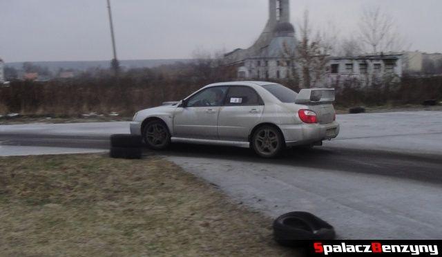 Subaru Impreza WRX srebrna na RS Piotra Bodzaka na Torze w Lublinie 2013
