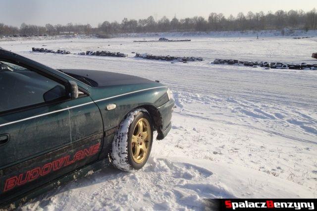 Subaru na śnieżnym torze na RS WOŚP na Torze w Lublinie 2013