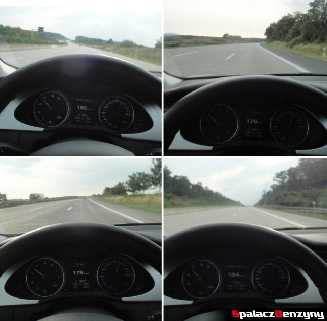 Szybka jazda prawym pasem na niemieckiej autostradzie