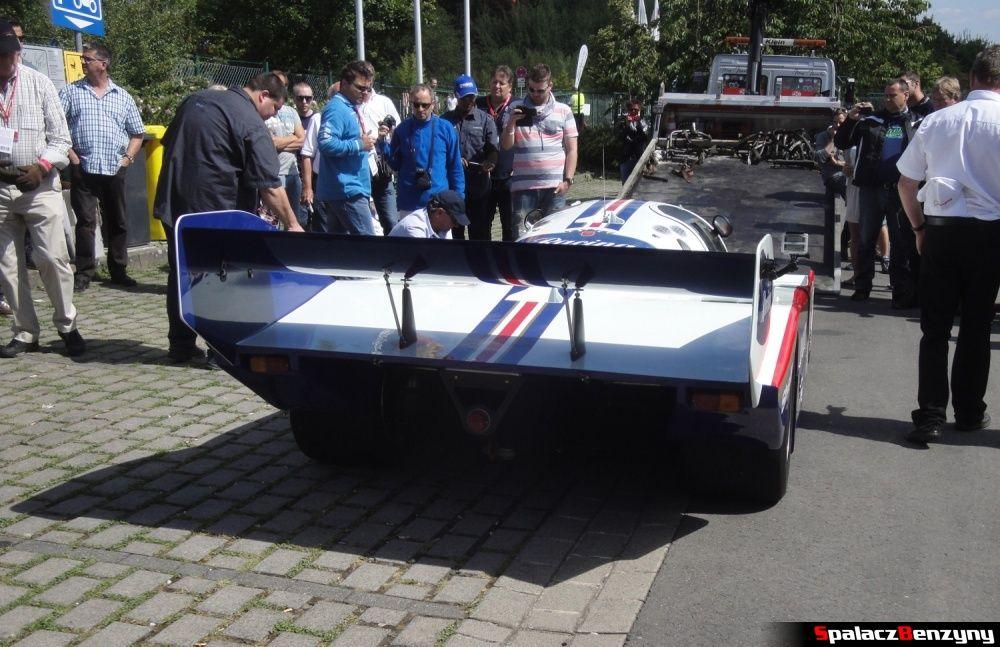 Tylny spojler Porsche 956 na Nurburgring Nordschleife