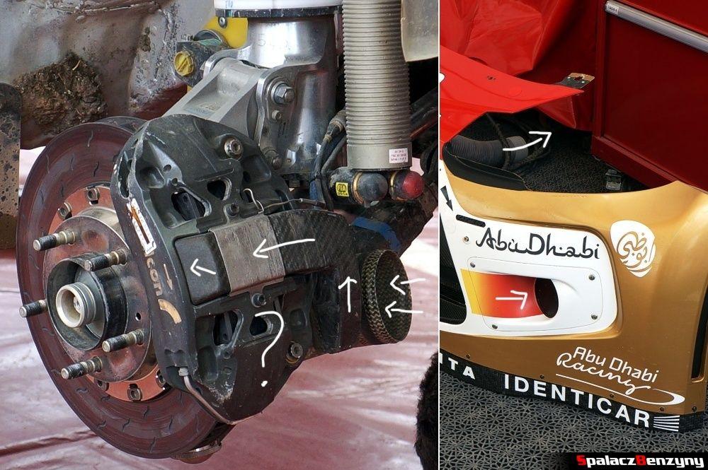Układ chłodzenia hamulców w Citroenie WRC