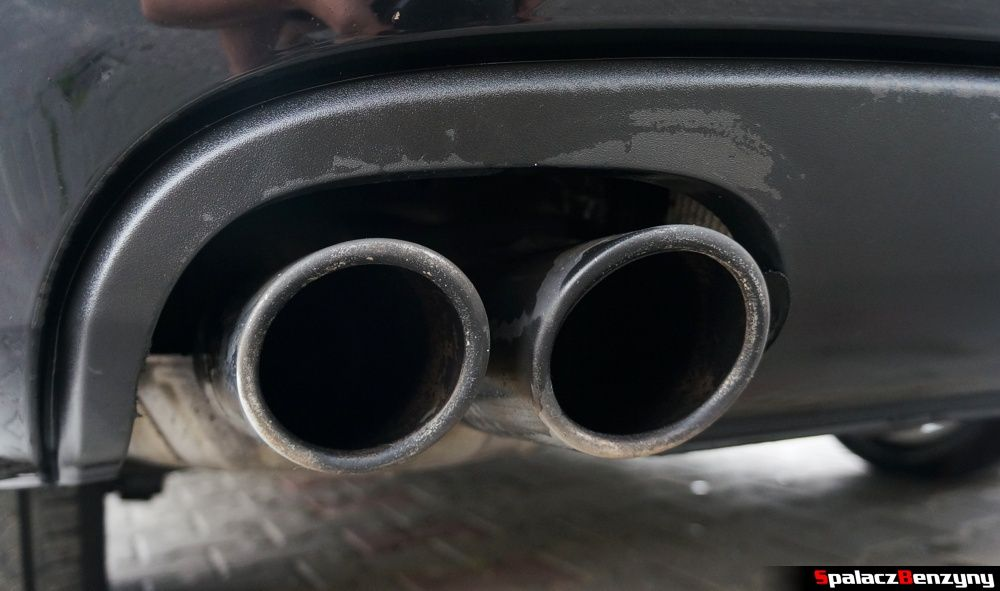 Umyta wodą chromowana końcówka wydechu Audi A4