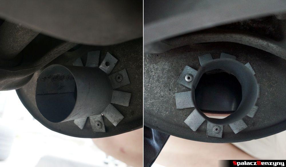 Wlot przy tylnych tarczach hamulcowych Audi A4 B8
