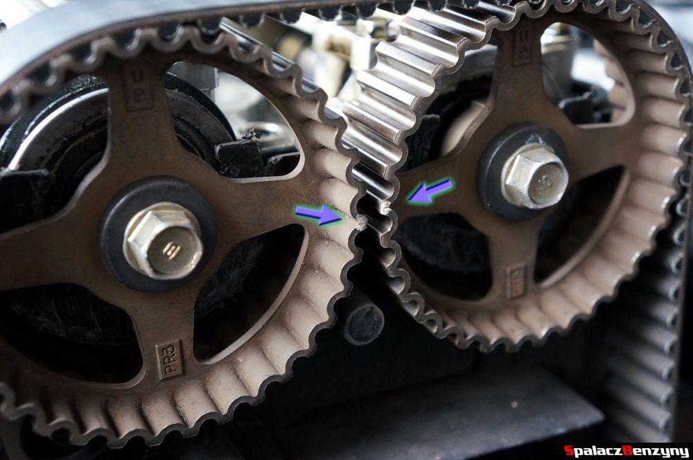 Wskaźniki na kołach zębatych wałka rozrządu w Honda Civic