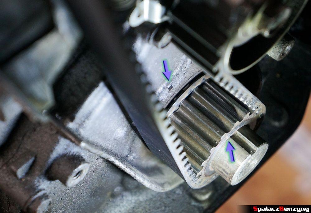Wskaźniki na kole zębatym wału korbowego w Honda Civic
