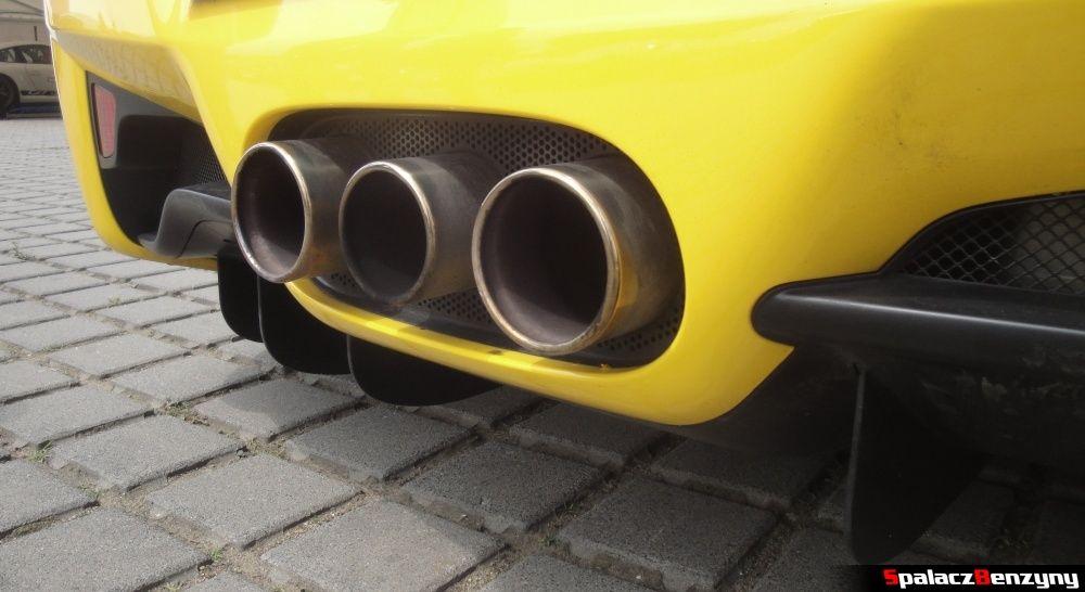Wydech Ferrari 458 Italia żółta na Gran Turismo Polonia 2013