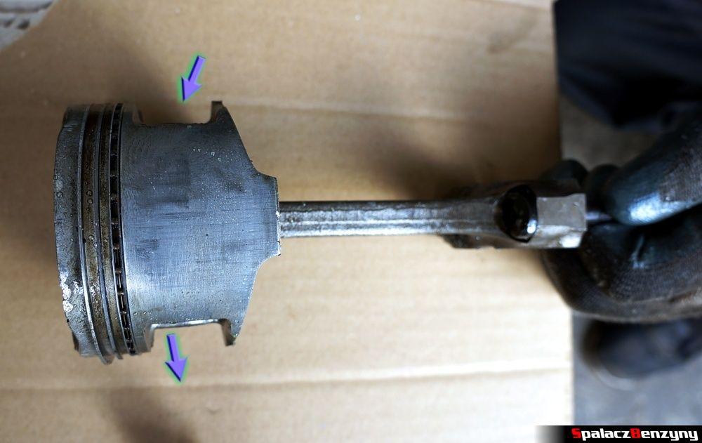 Wykrzywiony tłok w Honda Civic