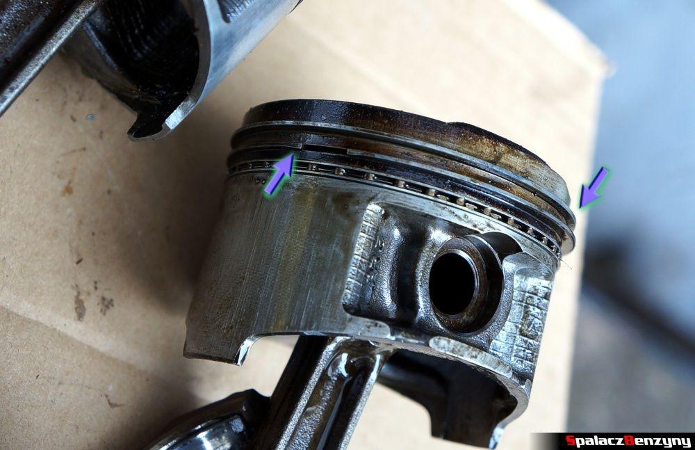 Zapieczony pierścień na tłoku w Honda Civic