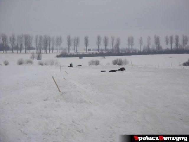 Zaspy na śnieżnym torze Snow Fun