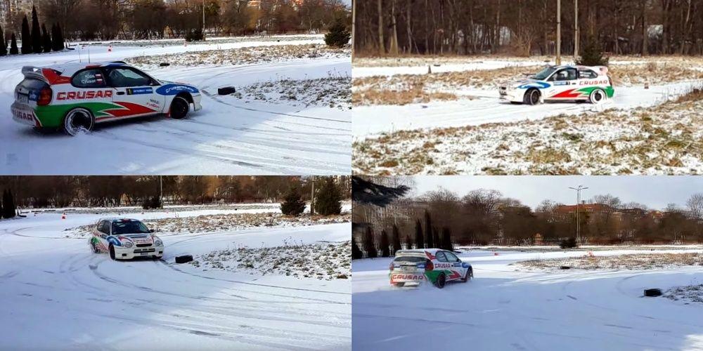 Zimowy Konkurs Shell Helix Toyota Corolla na śniegu