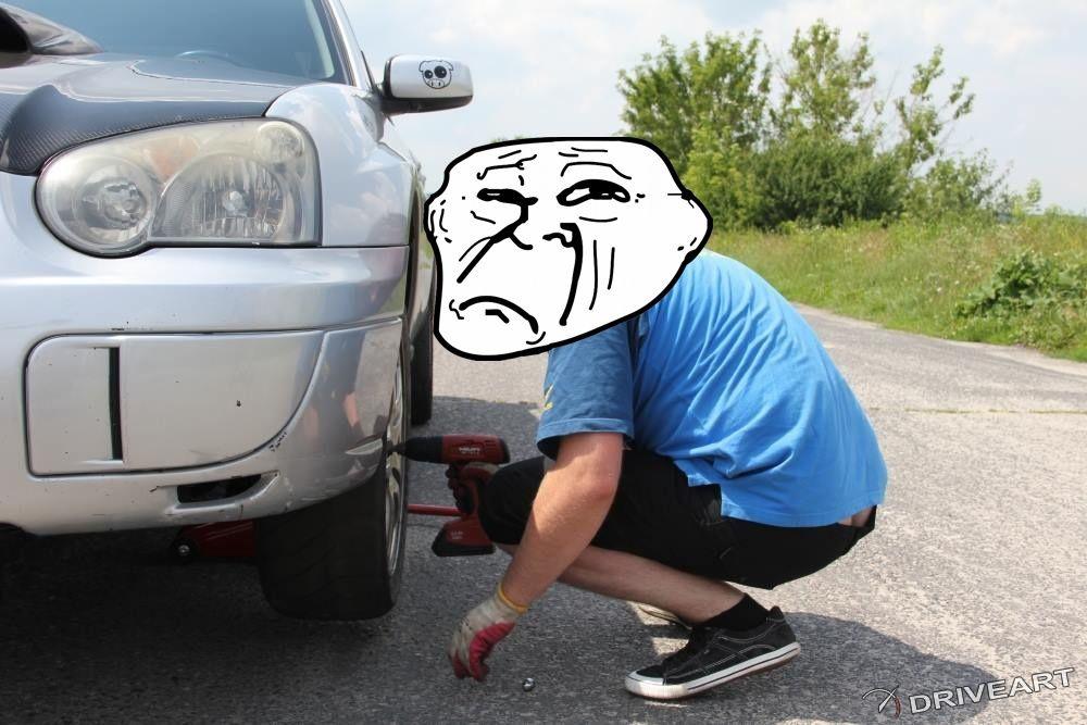 Zmieniacz koła w Subaru WRX Driveart