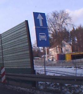Znak na początku drogi krajowej