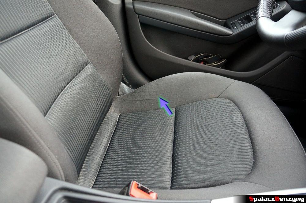 Zużycie fotela w Audi A4 B8