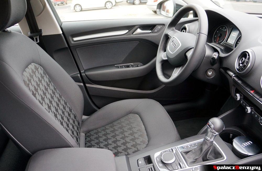 Fotel kierowcy w Audi A3 1.4 TFSI