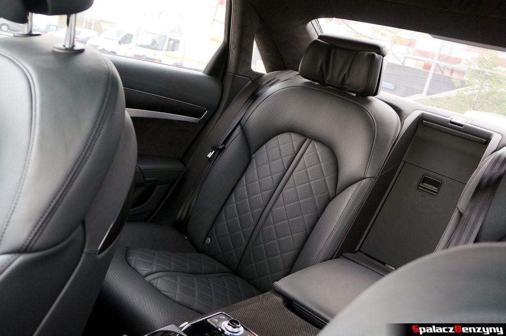 Skórzane fotele w Audi S8 4.0 TFSI 2015