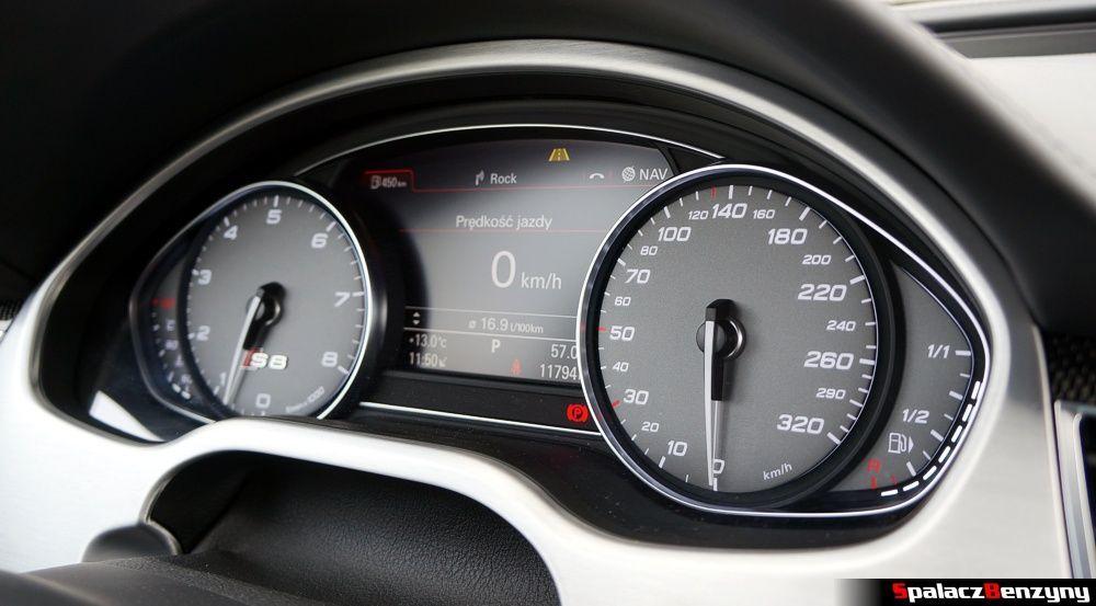 Licznik analogowy prędkościomierz w Audi S8 4.0 TFSI 2015