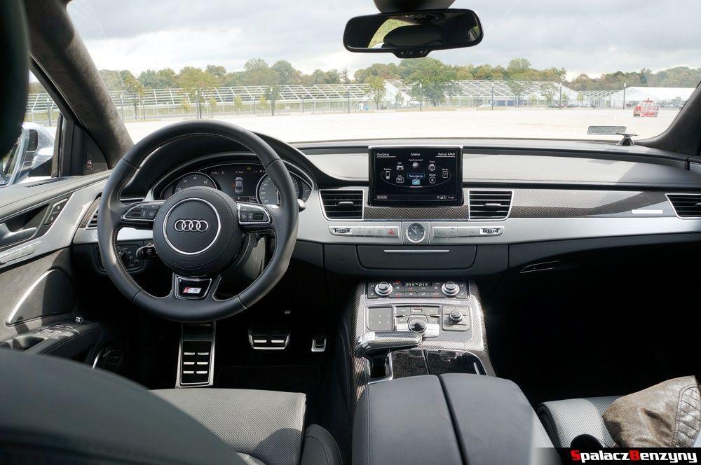 Wnętrze Audi S8 4.0 TFSI 2015