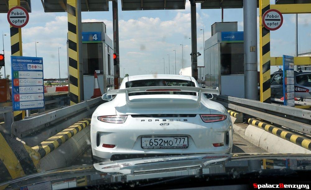 Porsche 911 GT3 na autostradzie A2 przed Poznaniem