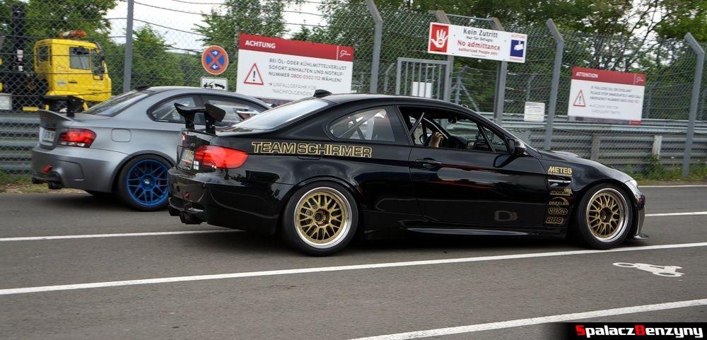 BMW M3 V8 czarne na Nurburgring Nordschleife 2015