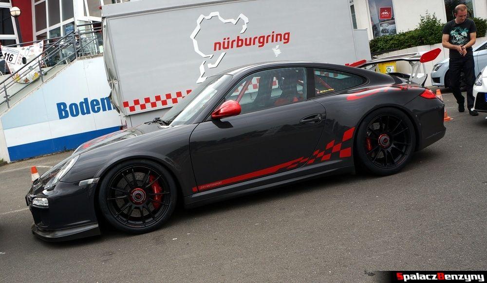 Porsche 911 GT3 szare na Nurburgring Nordschleife 2015