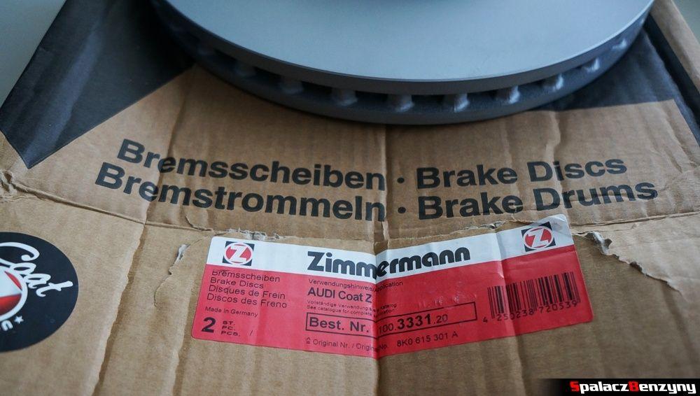 Tarcza hamulcowa Zimmerman Audi A4 generacji B8
