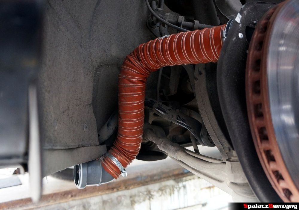 chłodzenie hamulców brake cooling air ducts Audi A4 B8