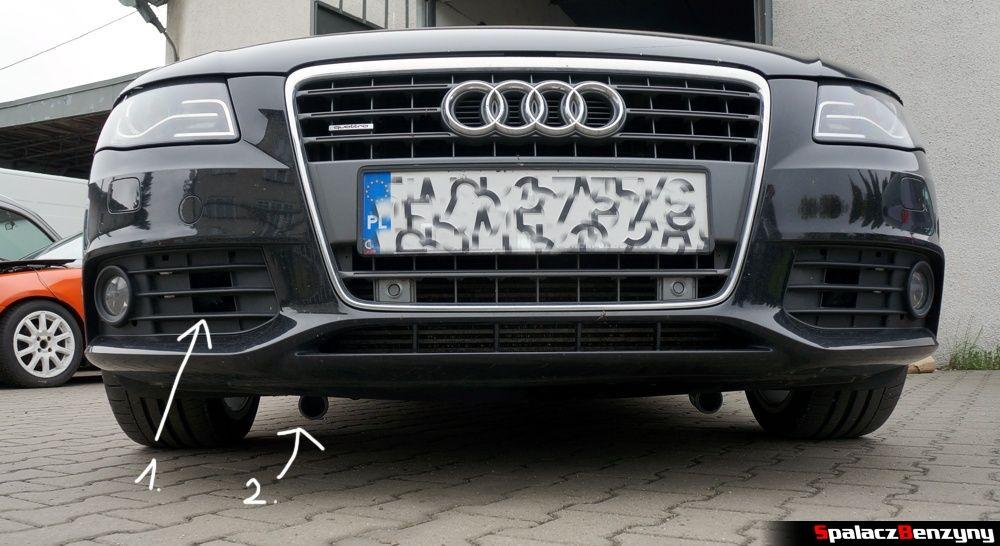 Układ chłodzenie hamulców brake cooling air ducts Audi A4 B8