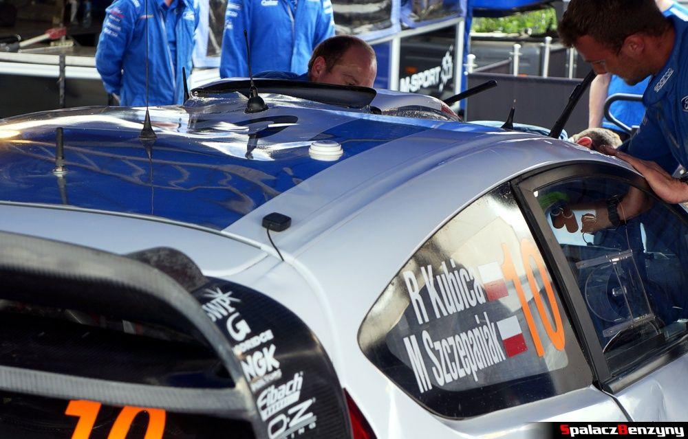 Wgnieciony dach Ford Fiesta WRC na Rajd Polski 2014