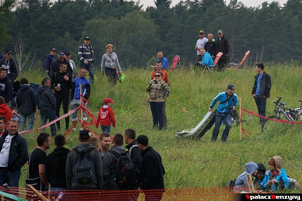 Zdobyty połamany zderzak na Rajd Polski 2014
