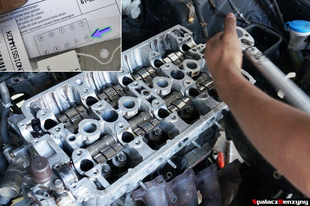 Kolejność dokręcania głowicy silnika Honda Civic