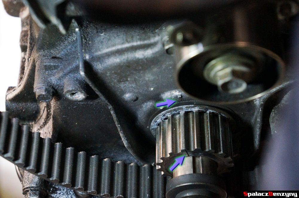 Wał korbowy jest prawidłowo ustawiony remont silnika Honda Civic